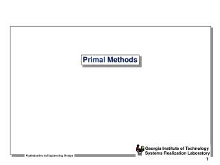 Primal Methods