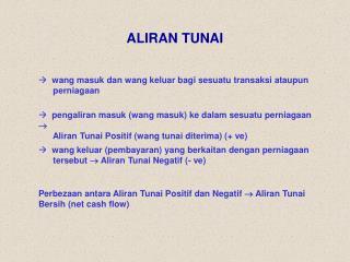 ALIRAN TUNAI