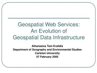 Geospatial Web Services: An Evolution of Geospatial Data ...
