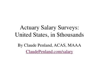 actuary salary survey for actuarial jobs