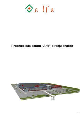 Tirdzniecibas centra  Alfa  pirceju analize