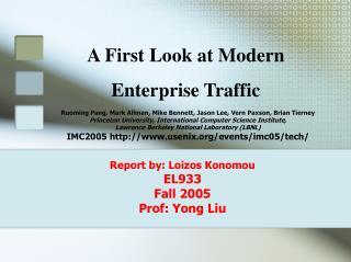 Report by: Loizos Konomou EL933
