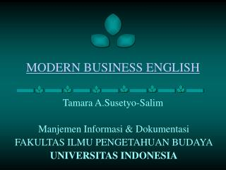 MODERN BUSINESS ENGLISH