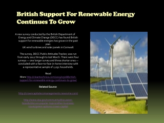 British Support For Renewable Energy Continues To Grow