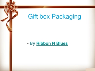 Design your gift with good-looking gift box packaging objects
