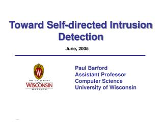 Toward Self-directed Intrusion Detection