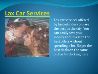 Lax Car Services