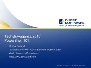 Techstravaganza 2010 PowerShell 101