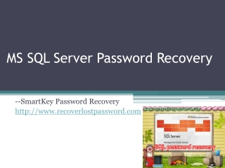 How to Recover SQL Server Password