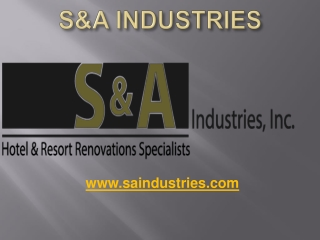 S&A Industries
