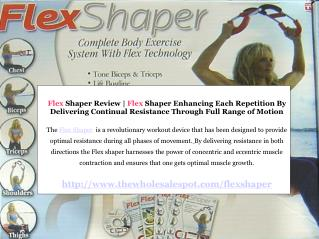 flex shaper - complete body exercise system