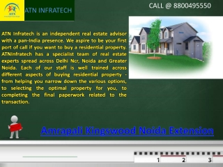 Amrapali Kingswood Venture is Situated Noida Extension