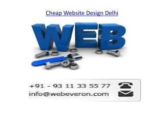 Cheap Website Design Delhi