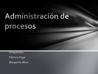 admnistracion por procesos
