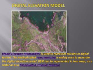 digital elevation model(dem)