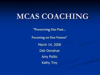 MCAS COACHING