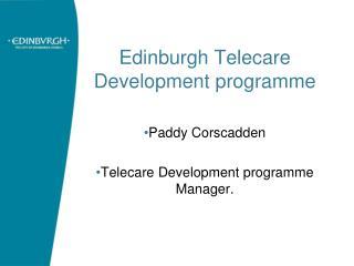 Edinburgh Telecare Development programme