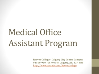 Medical Office Assistant Program in Calgary Alberta
