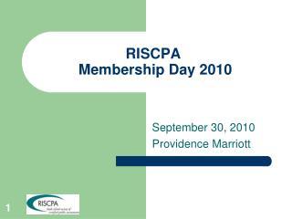 RISCPA  Membership Day 2010