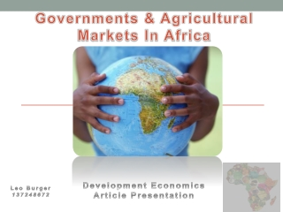 Agricultural markets in Africa