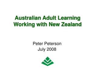 Australian Adult Learning Working with New Zealand