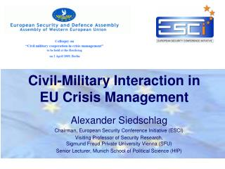 Civil-Military Interaction in EU Crisis Management