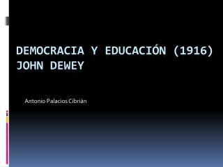 Democracia y educaci