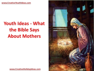 Youth Ideas - What the Bible Says About Mothers