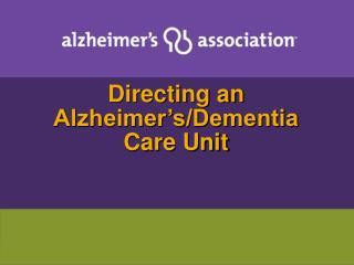 Directing an Alzheimer s
