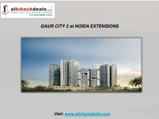 The Imminent Apartment Gaur City-2 at Noida Extensions