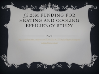 £5.25m funding for heating and cooling efficiency study