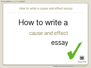 How To Write A Cause And Effect Essay | Essay Writing