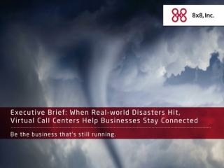 When Real-World Disasters Hit, Virtual Call Centers Help Bus