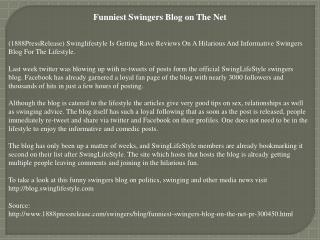 funniest swingers blog on the net