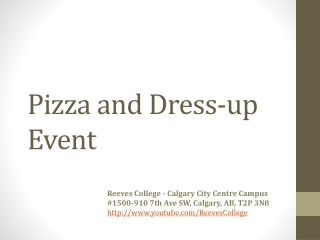 Pizza and Dress-up Event Calgary City Centre Canada
