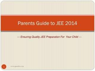IIT JEE Tips Parents Should Know For their Kids