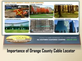 Orange County Cable Locator