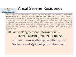 Ansal Serene Residency