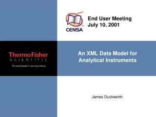 An XML Data Model for Analytical Instruments