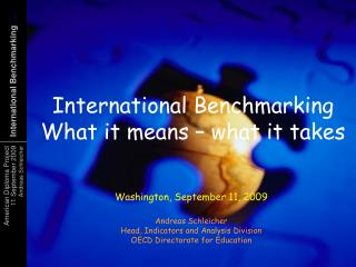 Dimensions for educational benchmarking