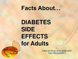 facts about� diabetes side effects for adults