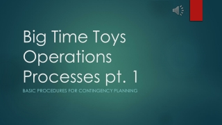 BTT Operations contingency planning- Pt. 1