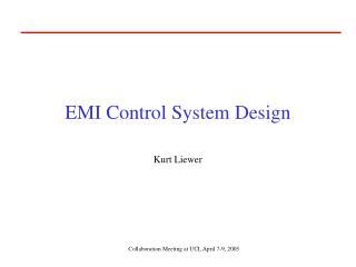 EMI Control System Design