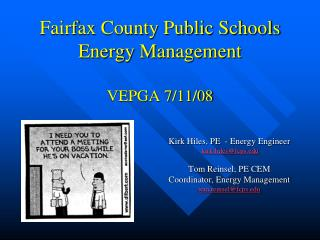 Fairfax County Public Schools Energy Management   VEPGA 7