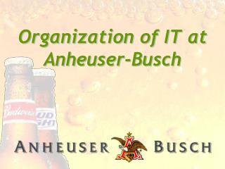 Organization of IT at Anheuser-Busch