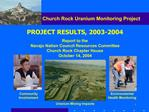 Church Rock Uranium Monitoring Project