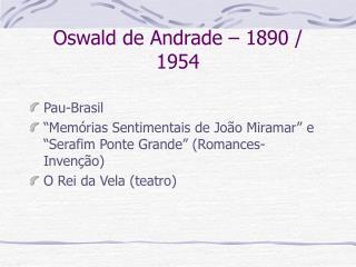 Oswald de Andrade   1890