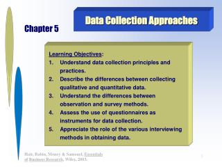 Data Collection Approaches