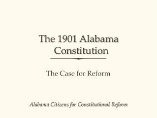 The 1901 Alabama Constitution