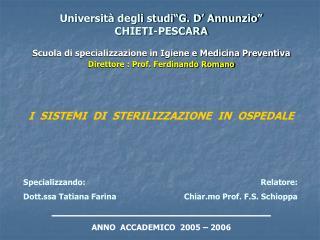 Universit  degli studi G. D  Annunzio  CHIETI-PESCARA